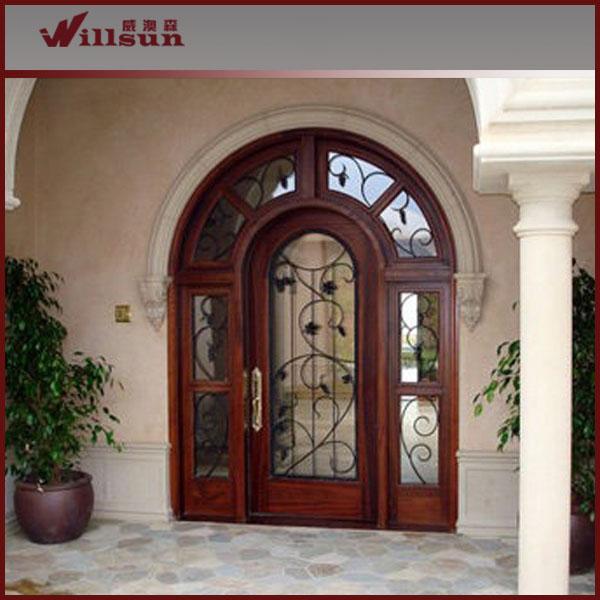 ingresso porta in ferro battuto vetro e legno-Porta-Id prodotto ...