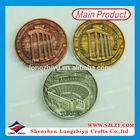 Antique gold silver copper ancient coins roman replica coins,round metal souvenir coin,3D embossed medal medallion manufacturer