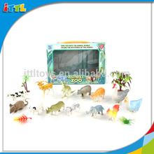 13PCS Wholesale Plastic Wild Forest Animal Playing Set Zoo Animal Toy
