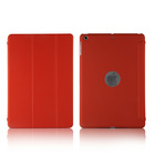 For ipad air trifold ultra slim leather case with logo hole