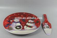 2015 Christmas Melamine Cake Plate And Cake Server Sets