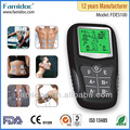 Portátil mini electro- decenas terapia de la máquina digital de masaje muscular estimulador
