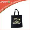 Promotional Blank Black Bag Cotton Canvas