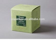 herbal tea packing foldable rigid emboss logo paper box