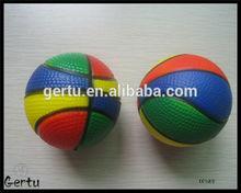 promotional multi color basketball anti stress ball(polyurethane)