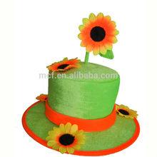 divertida fiesta de carnaval sombrero de payaso con la flor