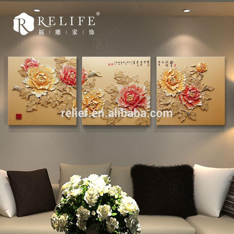 artigianale quadri su tela flower design della pittura stencil su ...