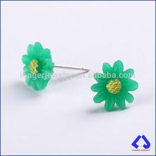 Green Resin Stud Earring Jewelry