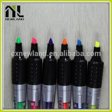 Best custom colorful overstriking nite writer promotional plastic advertising permanent marker highlighter mark pen