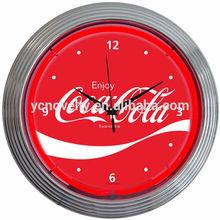 Cola Logo neon clock