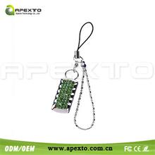 Disposable usb stick with custom logo keychain usb flash memory clock shape 32gb