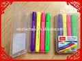 Triangular penbody tablero de colores marcador, 6pp embalaje de la caja, tinta importados.