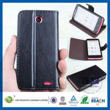 C&T Standing smart leather flip case for lenovo cell phone