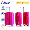Pink child suitcase plastic flight case four wheel shopping trolley bag