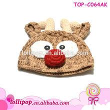 Hot sale lovely christmas wholesale cute baby hat crochet pattern