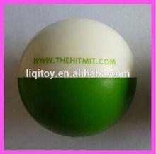 White and Green PU foam anti stress ball