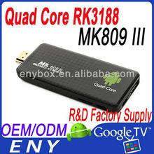updated MK809III Google TV Box Android 4.2 RAM 2GB + 8GB MK809 PC micro sd 802.11ac