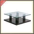spiral metal glass rising coffee table