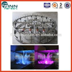 Decorative SS 304 indoor or outdoor colorful gardenwater dancing speakers