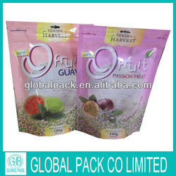 HOT SALE! WHOLESALE Dried Fruit and Nut Packaging Stand bags with Zipper
