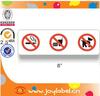 Permanent adhesive custom no smoking sticker