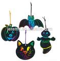Magie farbe kratzen halloween formen rubbellos