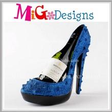 China factory wholesale polyresin wine bottle holder shoe
