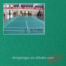 Dimensionally stable badminton court floor versatile options