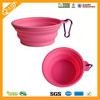 Portable folding silicone rubber dog feeding bowl