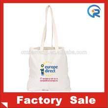 Reusable cheapwholesale plain canvas tote bags/tote bag canvas/long handle cotton bags