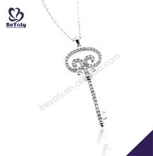 Decent key shape silver jewelry tibetan mandala pendant