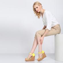 2014 high quality khaki cropped fashion trousers