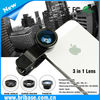 Wholesale 3 in 1 Wide angle&fisheye&Micro cool clip camera phone lens
