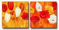 modern wall art flower bloom group flower oil painting