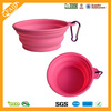 Durable Folding silicone rubber dog feeding bowl with hook