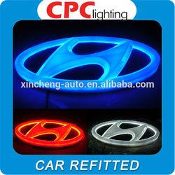 Wholesale price 4d car logo led,led car logo 4d for Hyundai