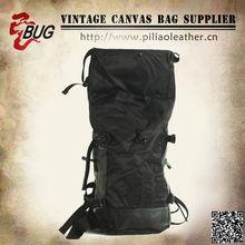 2015 Black Large capacity waterproof canvas hiking backpack