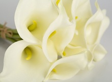 Wholesale PU calla lily flower for home decoration wedding ceremony