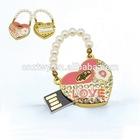 Bling bling ring shaped crystal usb flash drive,custom business logo usb promotion gift