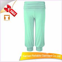 2014 new style 100% cotton aladdin yoga pant for women elastic waistband with hidden pocket