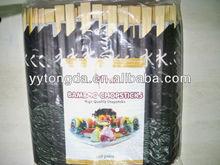 21 CM de bambú palillos con papel envuelto