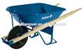 Neumático de la carretilla 480/400-8 unión y bañera de herramientas de servicio pesado 6 pies cúbicos de acero madewood constractor/construcción carretilla de la rueda