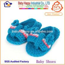 Top qualité mignon gros livraison modèle de tricot pour bébé sandales