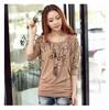 Wholesale longsleeve elongated brand t shirt woman China