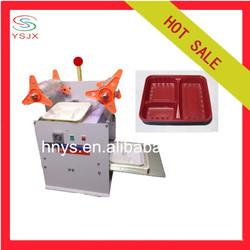Semi automatic plastic food container sealer