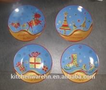 Haonai 210941 ceramic plate,ceramic christmas tree plate