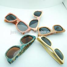 New products wooden Wayfarer naturally polarized sunglasses bamboo