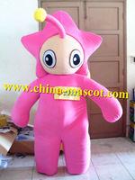 Cute pink star mascot costume