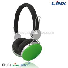 Fabric headband headphone with mic. for computer