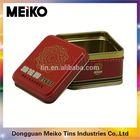 cigar or pill square tin box